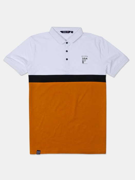 Freeze Orange And White Solid T-shirt