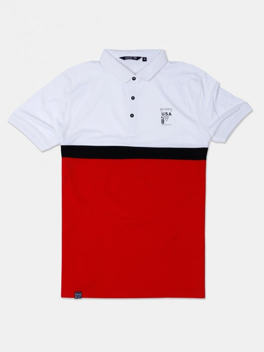 Freeze Red And White Casual Wear T-shirt