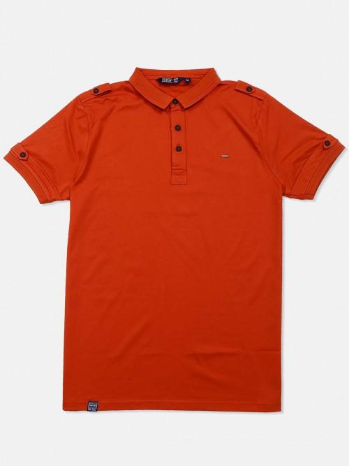 Freeze Solid Orange Polo Neck T-shirt