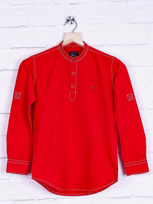 Frio Red Casual Slim Fit Shirt