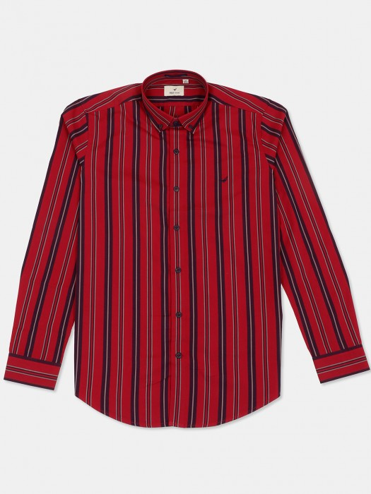 Frio Red Stripe Casual Wear Shirt