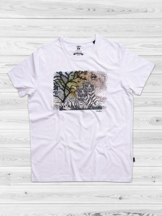 Fritzberg Noble White Color Slim Fit T-shirt