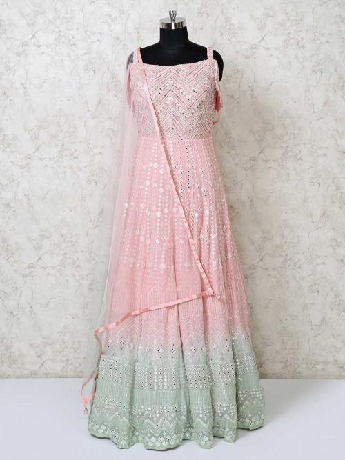 Georgette Designer Wedding Wear Anarkali Salwar Suit