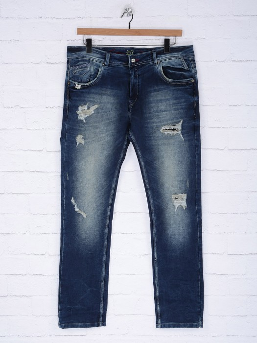 Gesture Blue Ripped Denim Jeans