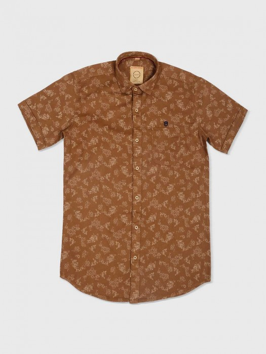 Gianti Brown Cotton Shirt