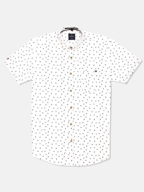 Gianti Cotton Printed White Shirt