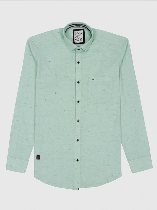 Gianti Solid Sea Green Color Shirt