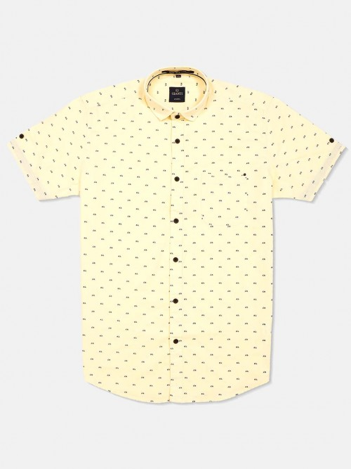 Gianti Yellow Printed Shirt