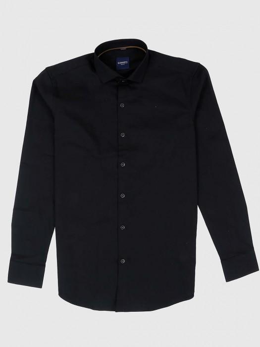 Ginneti Black Casual Wear Solid Shirt