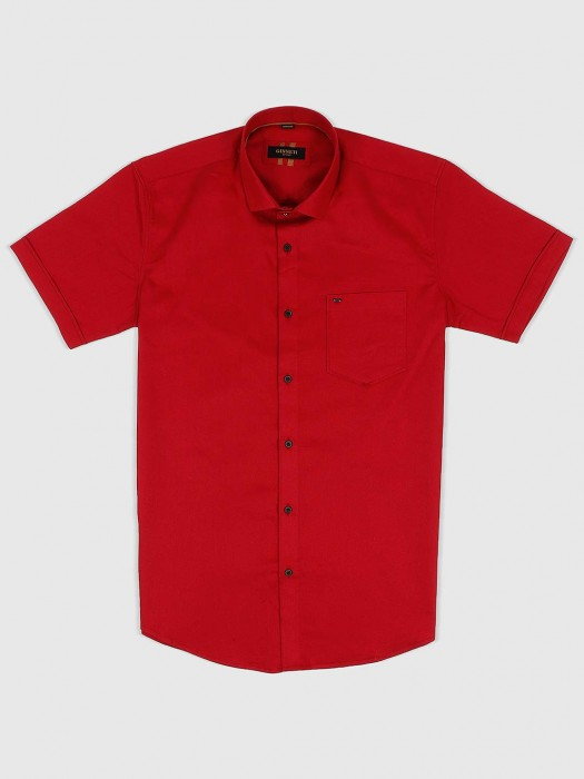 Ginneti Solid Red Colored Shirt