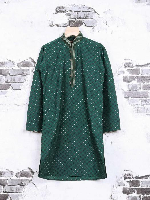 Green Printed Party Wear Kurta Suit