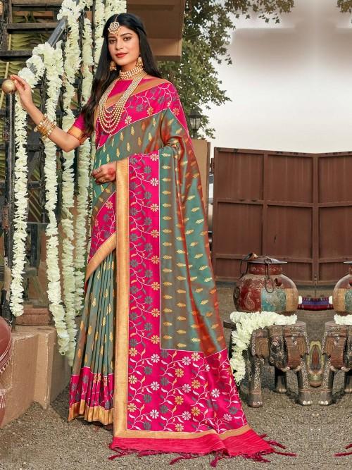 Grey Banarasi Silk For Your Best Wedding Look