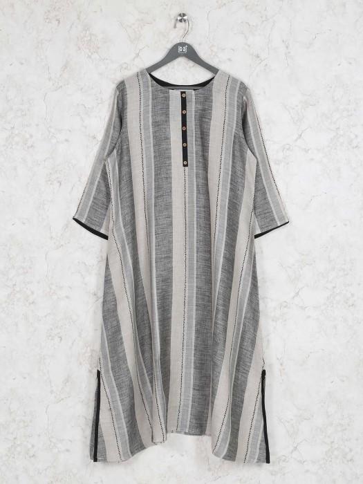 Grey Hued Cotton Casual Kurti