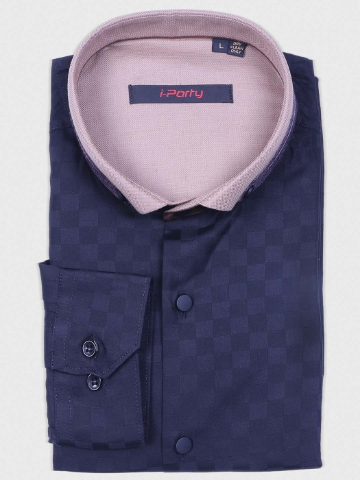 I Party Navy Hue Shirt