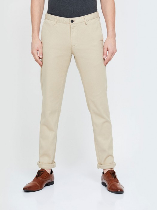 Indian Terrain Casual Wear Cream Trouser