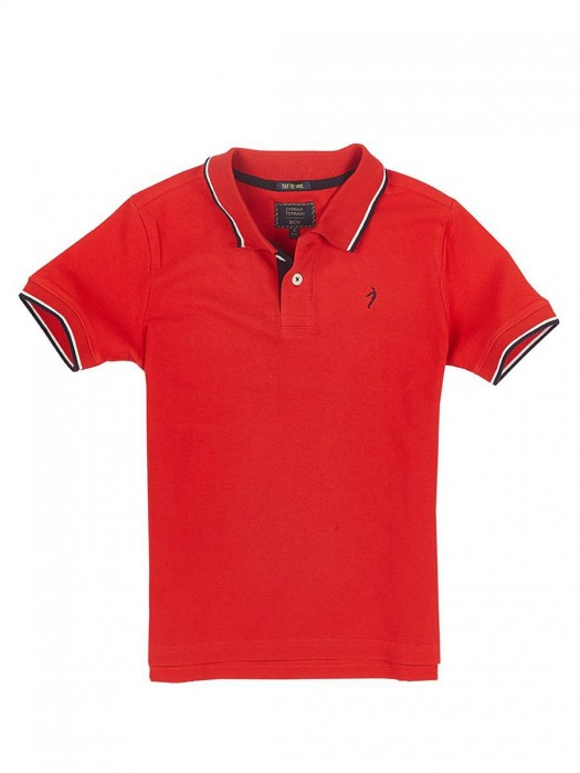 Indian Terrain Solid Slim Fit Red T-shirt