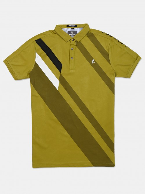 Instinto Green Stripe Cotton T-shirt