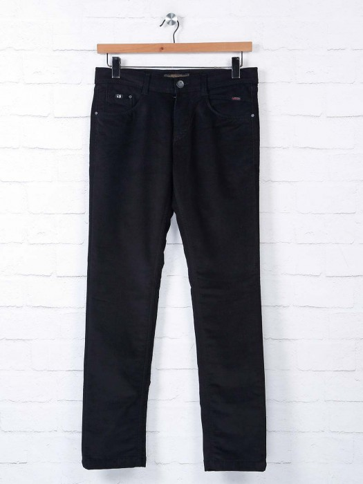 Irony Black Slim Fit Solid Jeans