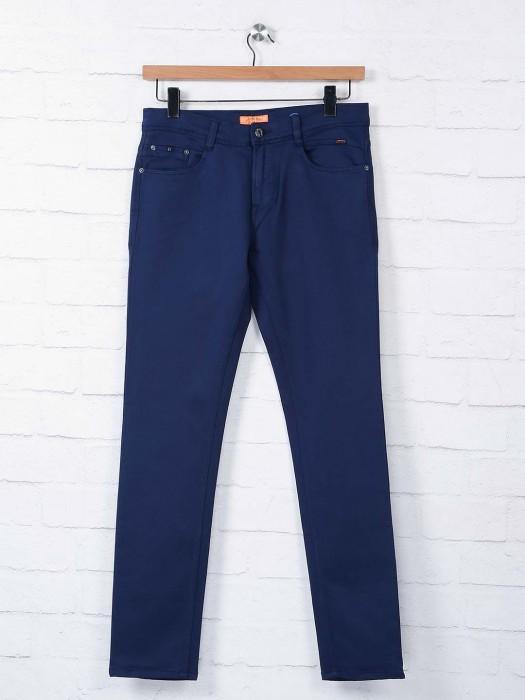 Irony Navy Regular Mens Solid Jeans