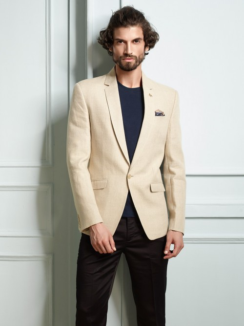 Khaki Blazer For Party Function