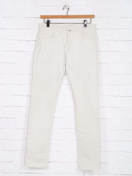 Killer Off White Solid Slim Fit Jeans
