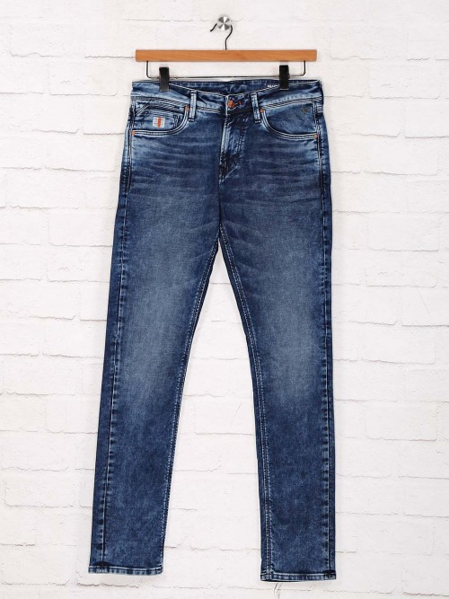 Killer Presented Solid Blue Skinny Fit Jeans
