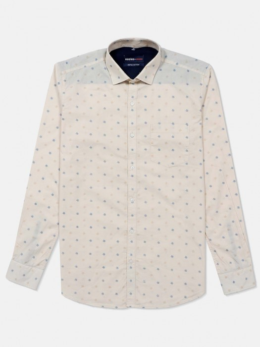 Killer Printed Beige Casual Shirt