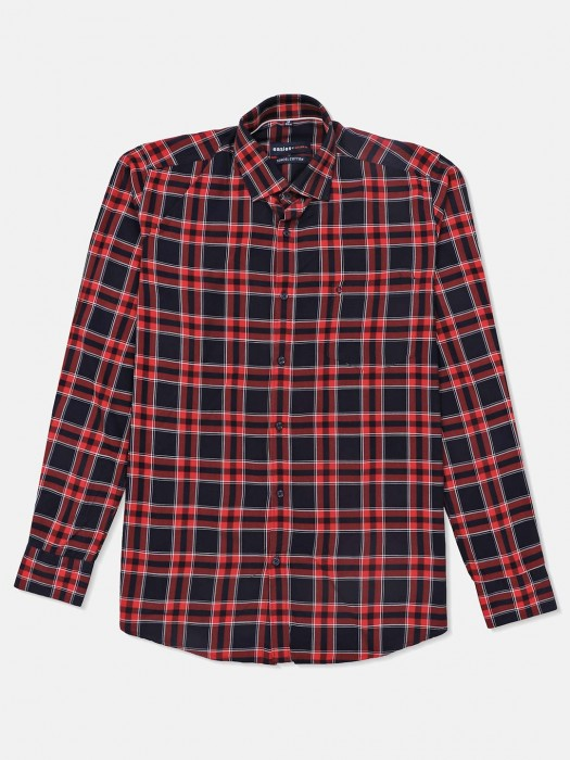 Killer Red And Navy Checks Shirt
