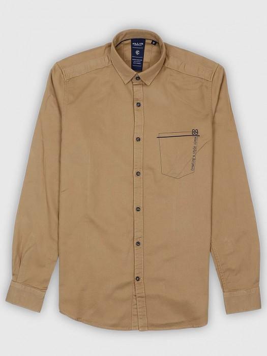 Killer Solid Khaki Casual Wear Shirt