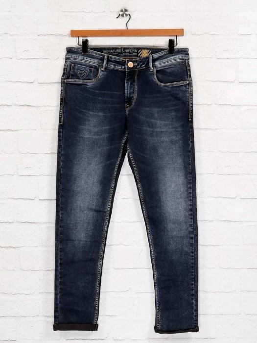 Kozzak Black Solid Slim Fit Jeans