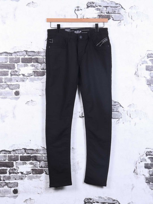 Kozzak Solid Black Denim Jeans