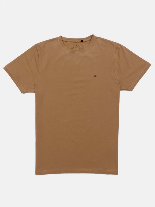 Kuch Kuch Half Sleevs Khaki Solid T-shirt