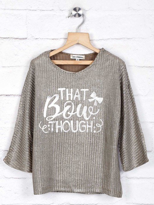 Leo N Babes Knitted Grey Top