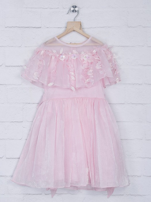 Leo N Babes Net Pink Frock