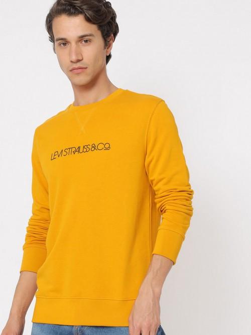 Levis Bright Yellow Solid Sweatshirt