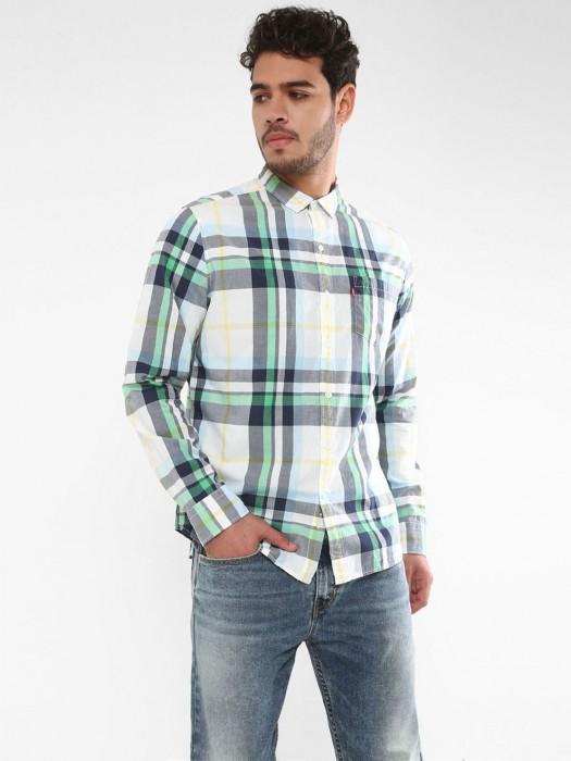 Levis Presented White Checks Shirt