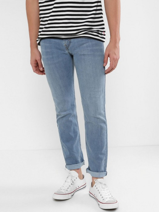 Levis Simple Light Blue Plain Jeans