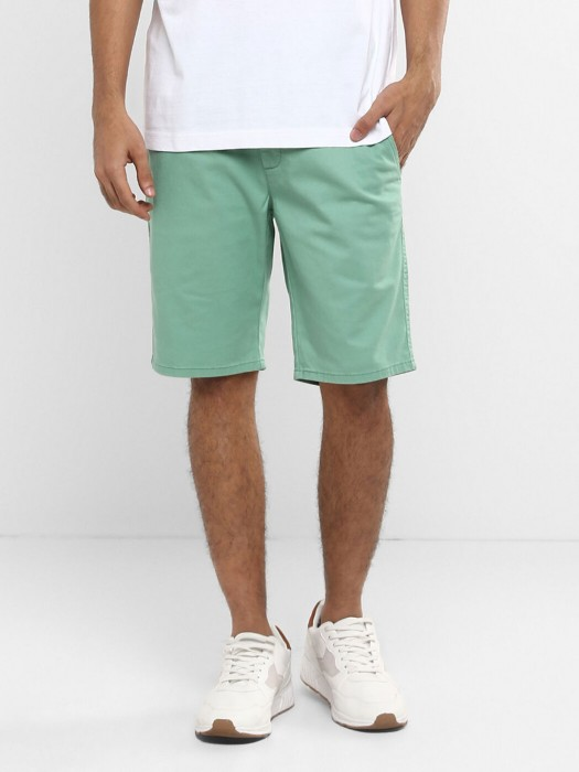 Levis Solid Green Cotton Short