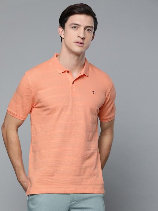 LP Peach Solid Cotton T-shirt
