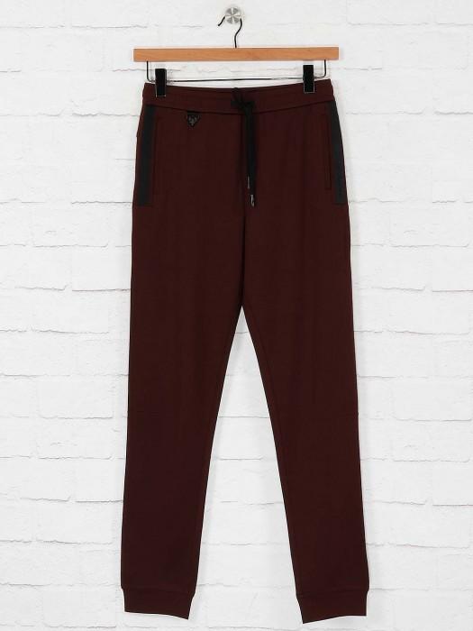 Maml Brown Hue Mens Cotton Track Pant