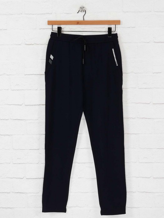 Maml Presented Navy Solid Track Pant