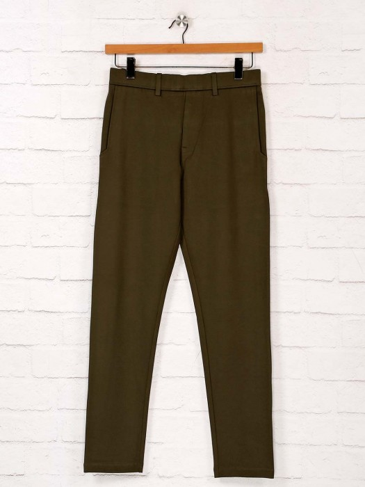 Maml Presented Olive Solid Track Pant