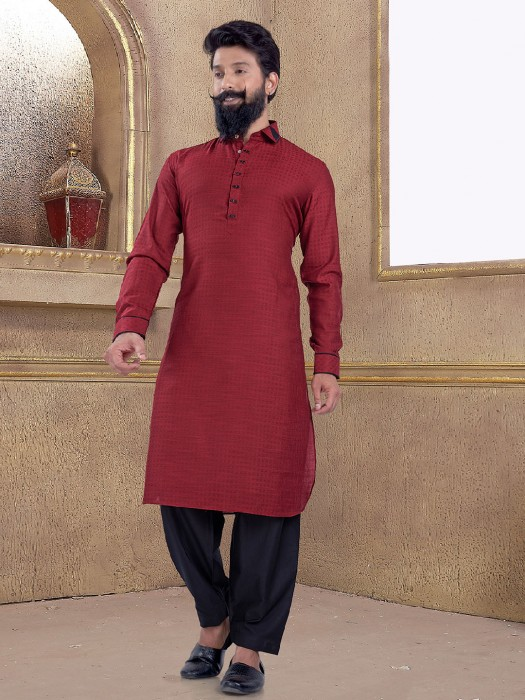 Maroon Color Pathani Suit