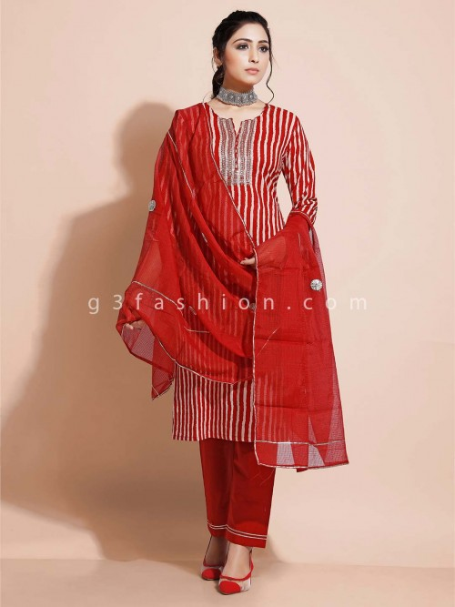 Maroon Deisgner Pant Salwar Suit In Cotton For Festivals