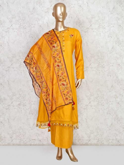 Mustard Yellow Salwar Kameez