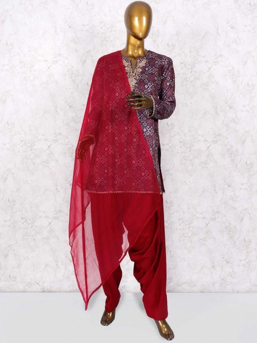 Navy Color Cotton Punjabi Salwar Suit
