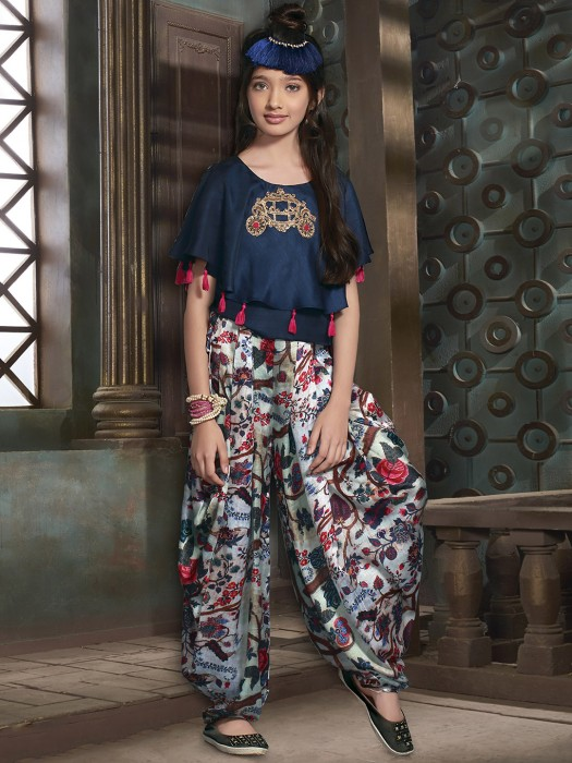 Navy Color Designer Dhoti Suit
