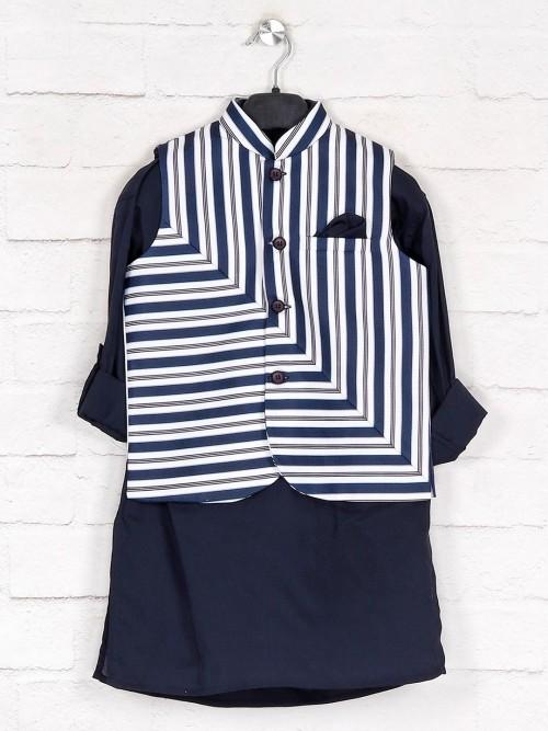 Navy Stripe Style Cotton Waistcoat