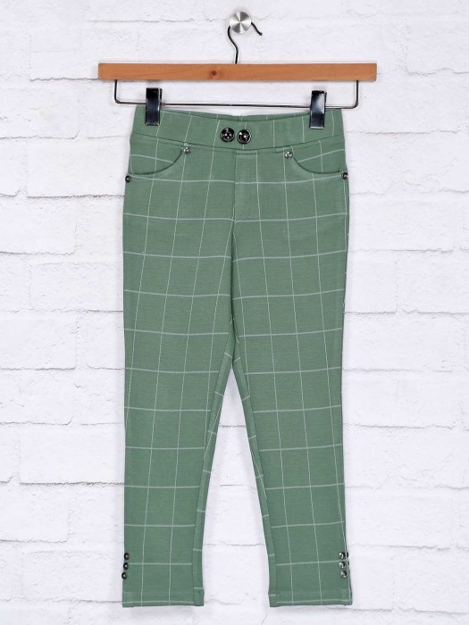 No Doubt Greem Cotton Casual Jeggings