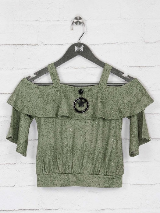 No Doubt Green Color Top For Girls